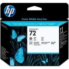 Cabezal de impresión DesignJet HP 72 gris y negro fotográfico
