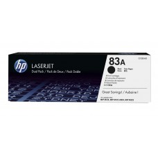 Paquete de 2 Cartuchos De Toner LaserJet HP 83A Color Negro