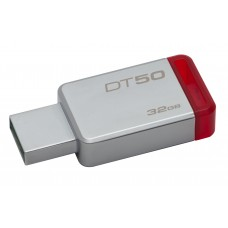 Memoria 32GB USB 3.0 DataTraveler 50 (Metal/Red)