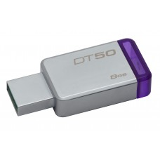 Memoria 8GB USB 3.0 DataTraveler 50 (Metal/Purple)