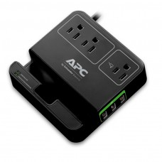 Apc Essential Surgearrest, 3 Outlets, 3 Usb Charging Ports, 120V, Black