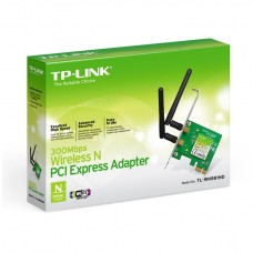300Mbps Wireless N PCI Express Adapter Atheros 2T2R 24GHz 80211ngb 2 detachable antennas