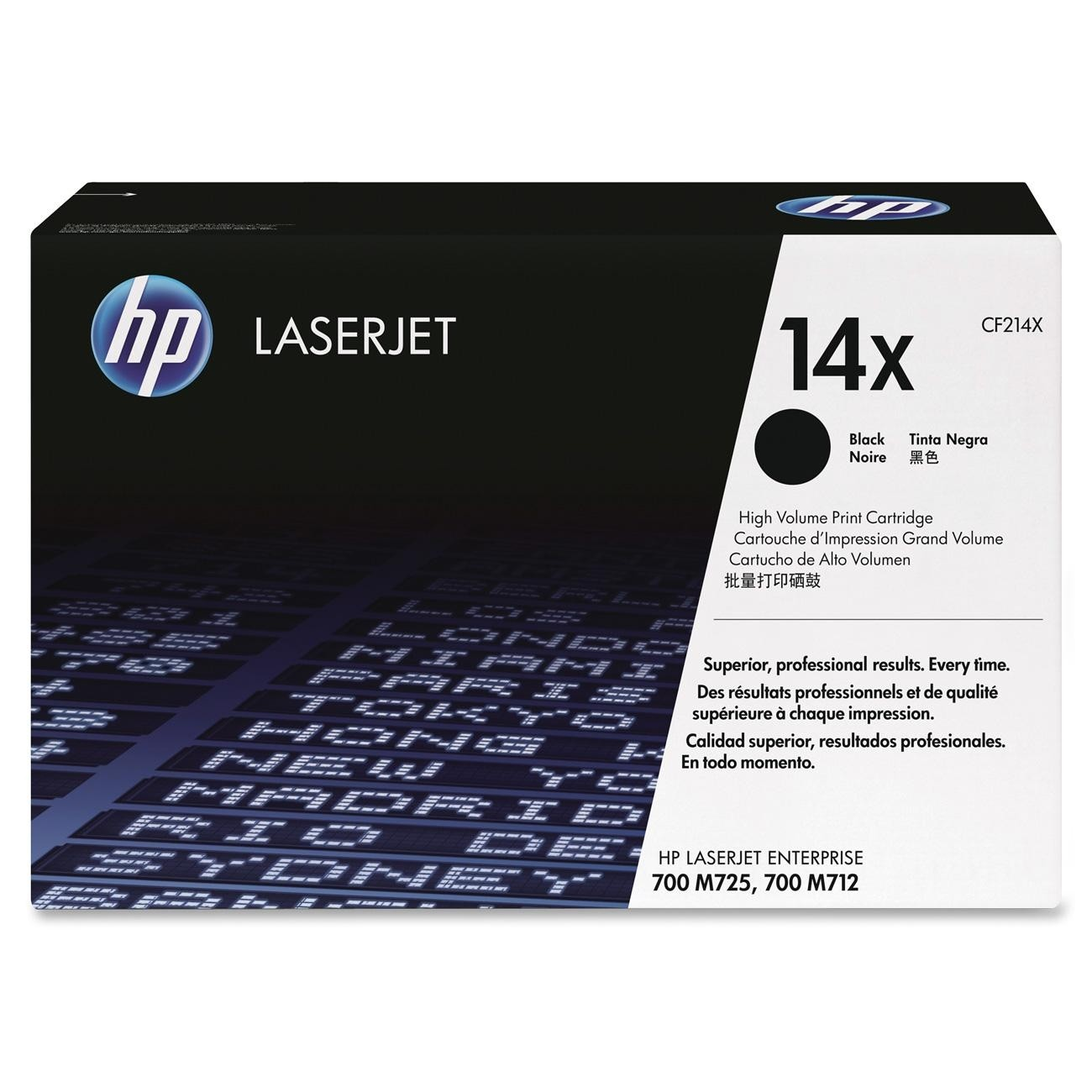 Cartucho De Toner Hp 14X LaserJet Color Negro