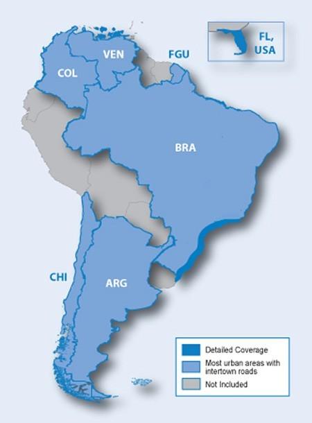 Mapas De Sur America Para GPS Garmin Ruteables