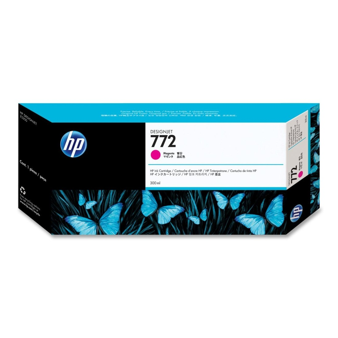 Cartucho De Tinta  Hp 772 Color Magenta De 300 ml