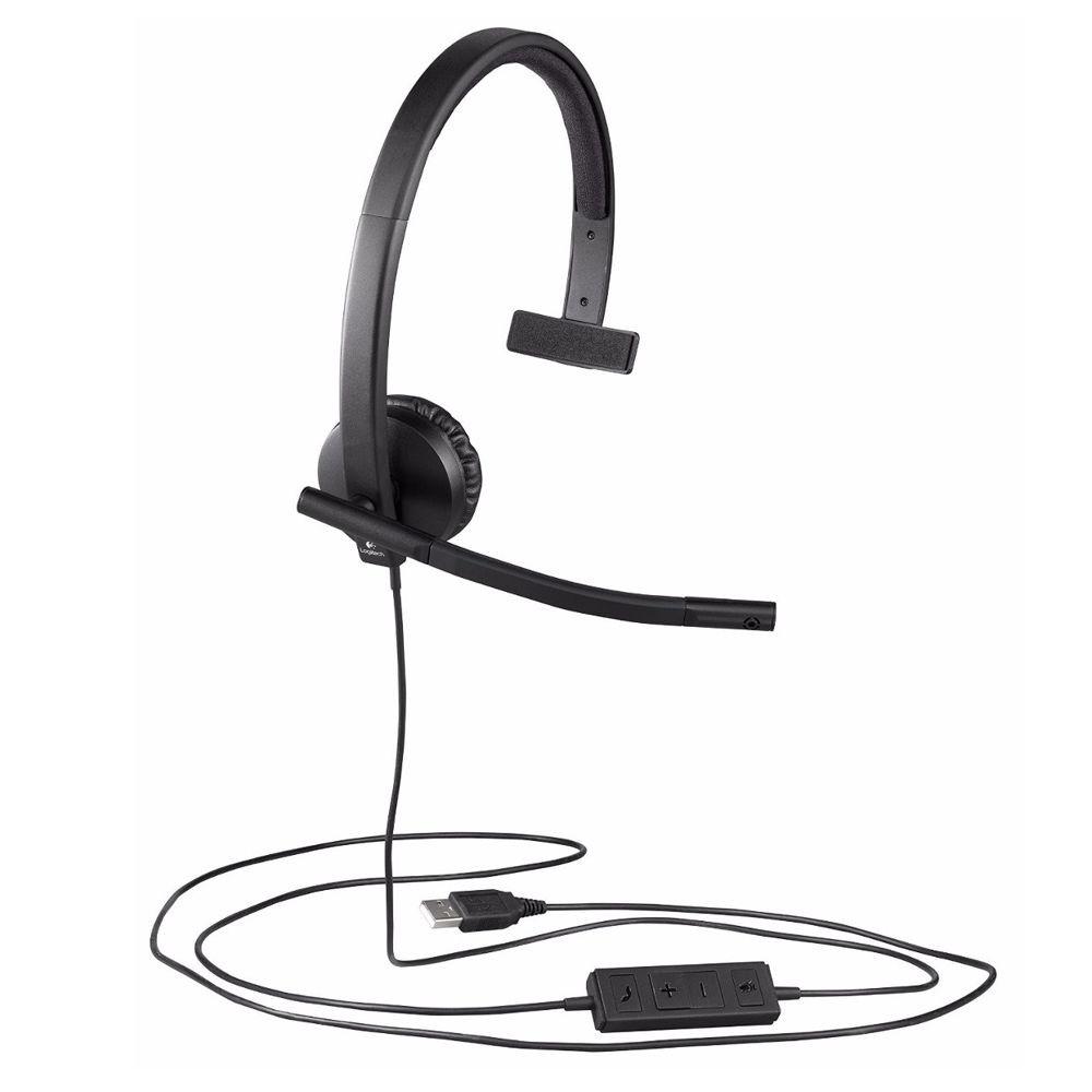 Diadema Logitech H570E Monoauricular Microfono USB