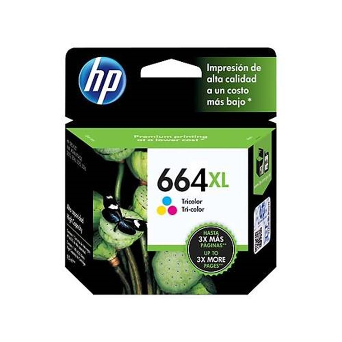 Cartucho De Tinta Tricolor HP 664Xl