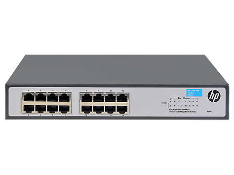 Switch HP 1420-16G, 16 10/100/1000, No adminitrable, Capa 2, no apilable, no PoE