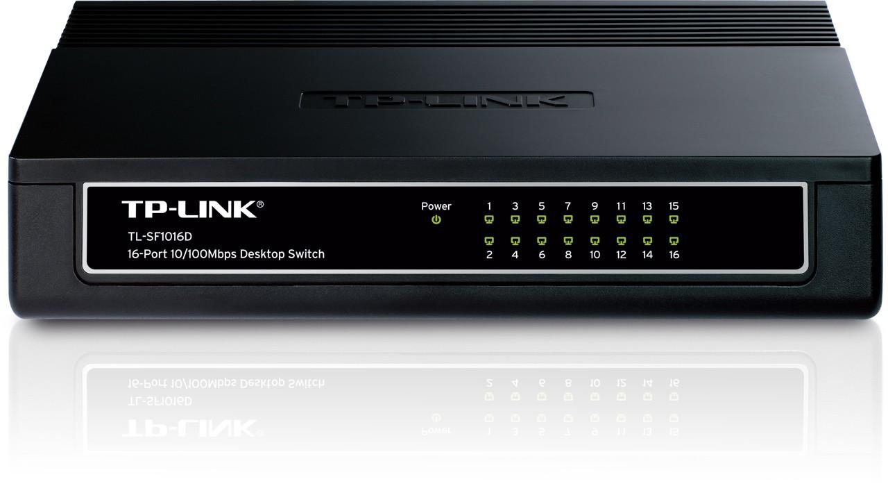 16-port 10100M Desktop Switch16 10100M RJ45 ports Plastic case
